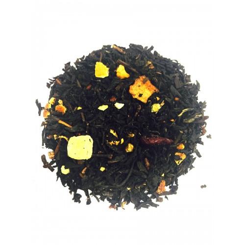 Herbata czarna z owocami  200 g  liściasta