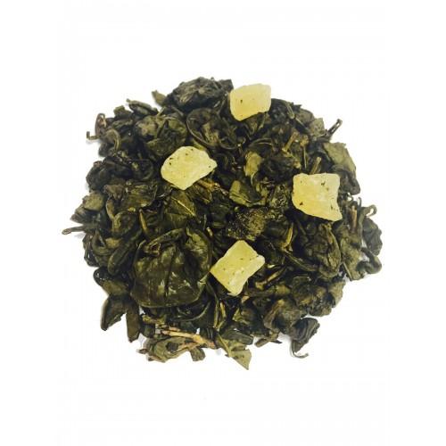 VEERTEA herbata zielona z ananasem 200 g - duże zwinięte liście