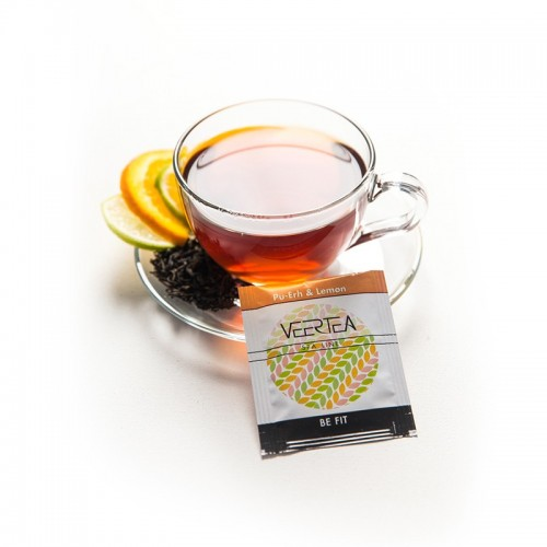 VEERTEA Pu-erh  & Lemon - herbata czerwona w saszetkach / kopertkach - 500 torebek