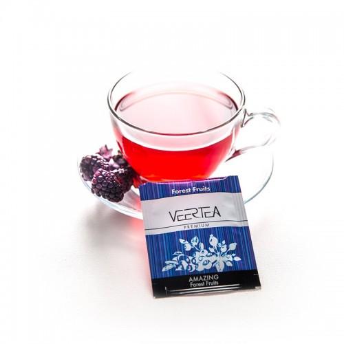 VEERTEA Amazing Forest Fruits - herbata owoce leśne w saszetkach / kopertkach - 500 torebek