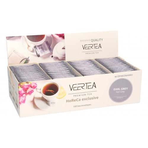 VEERTEA Magnetic Earl Grey - herbata czarna w saszetkach / kopertkach - 100 torebek