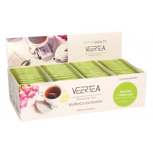 VEERTEA  Sensational Green Tea & Fruits-  zielona herbata z owocami w saszetkach / kopertkach -100 torebek