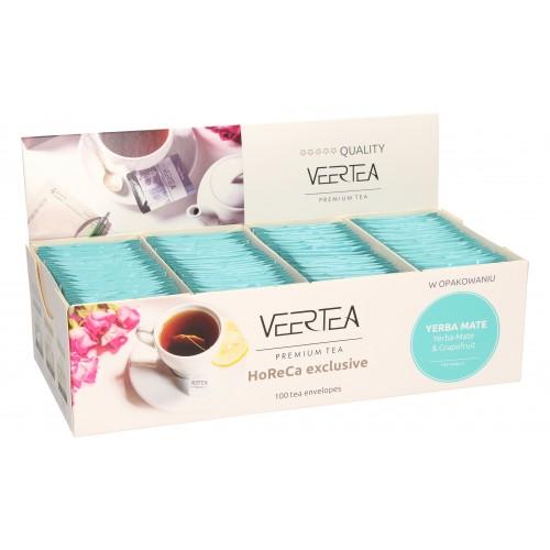 VEERTEA Yerba Mate & Grapefruit - herbata yerba mate w saszetkach / kopertkach - 100 torebek