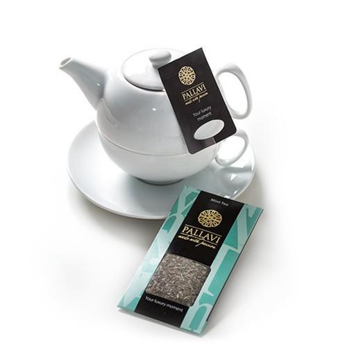 PALLAVI Mint na dzbanek - herbata miętowa w podłużnych saszetkach - 20 jedwabistych torebek