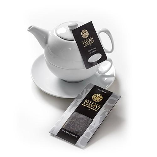 PALLAVI Earl Grey na dzbanek - herbata czarna w podłużnych saszetkach  - 25 jedwabistych torebek