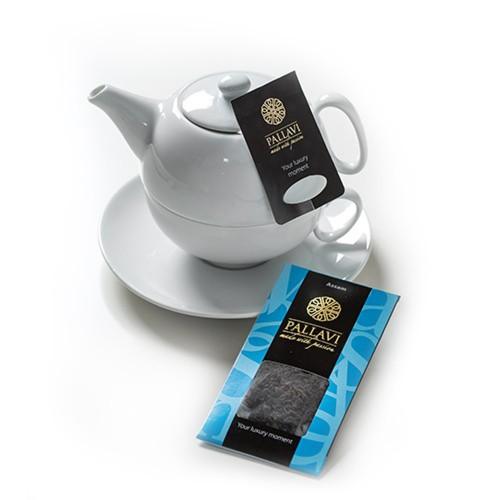 PALLAVI Assam na dzbanek - herbata czarna w podłużnych saszetkach - 20 jedwabistych torebek