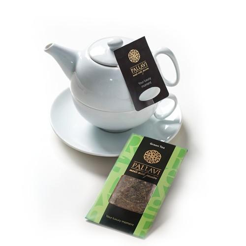 PALLAVI Green  - herbata zielona w podłużnych saszetkach - 25 torebek 4g