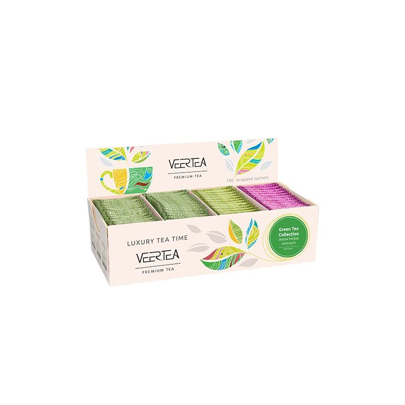 Kolekcja / zestaw herbat zielonych Veertea Premium 100 szt.