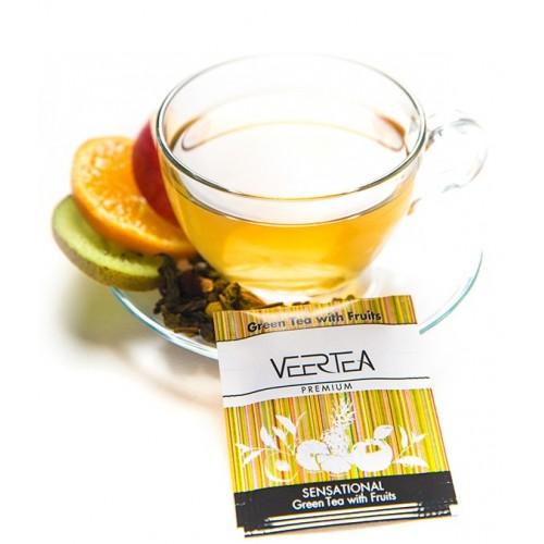 VEERTEA  Sensational Green Tea & Fruits -  zielona herbata z owocami w saszetkach / kopertkach -500 torebek